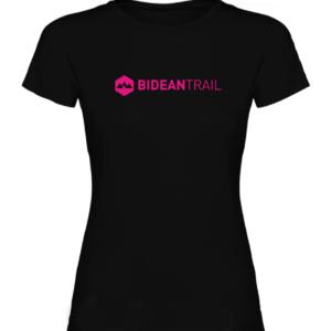 T Shirt Coton Bideantrail Noir/ Rose