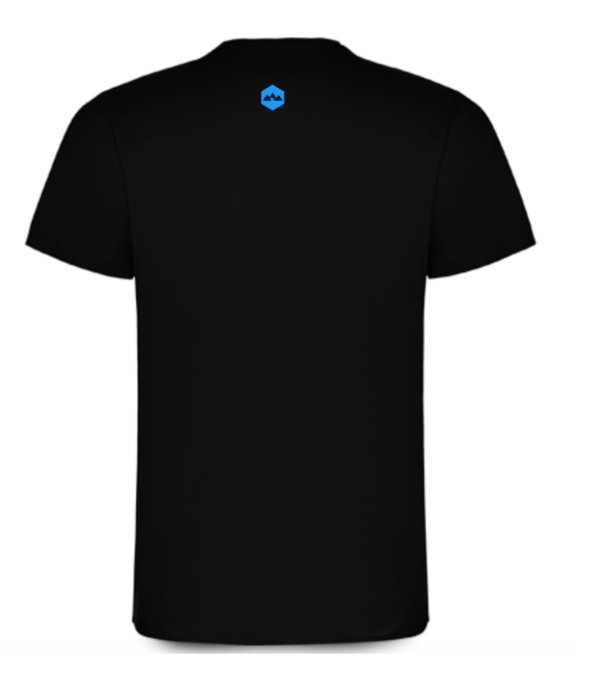 T Shirt Coton Bideantrail Noir/ Bleu clair